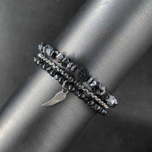 סט צמידים כנף לגבר - ארז תכשיטים