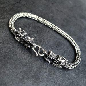 צמיד דרקון - צמיד כסף לגבר - ארז תכשיטים
