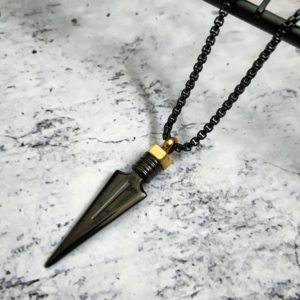 שרשרת חץ שחורה - שרשרת לגבר