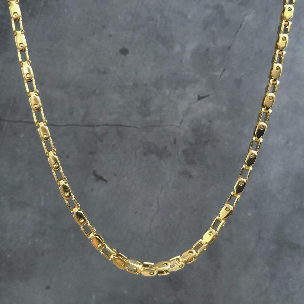 שרשרת גורמט לגבר – מכני זהב דק