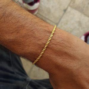צמיד חבל זהב