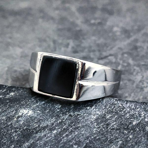 טבעת אוניקס לגבר - טבעות לגבר
