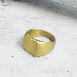 טבעת חותם זהב לגבר