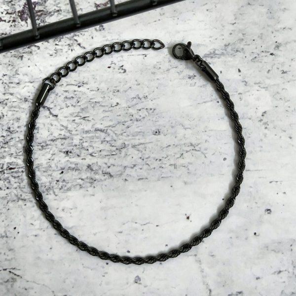 צמיד חבל שחור