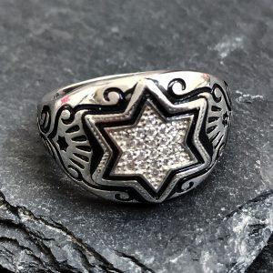 טבעת מגןג דוד לגבר