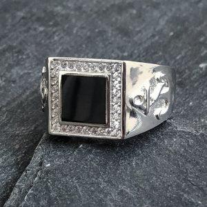 טבעת לגבר- טבעת עוגן כסף