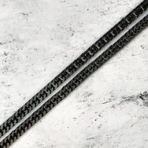 שרשרת גורמט שחור לגבר - שרשראות גברים - ארז תכשיטים לגברים