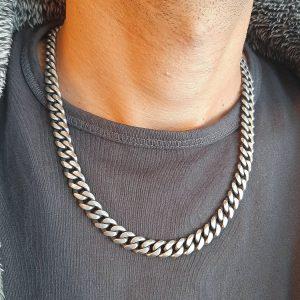 שרשרת גורמט מושחר - שרשרת לגבר - ארז תכשיטים לגברים