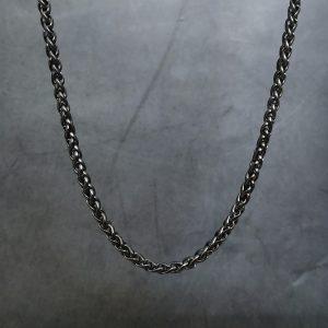 שרשרת שחורה לגבר
