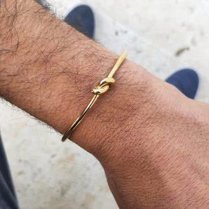צמיד קשר זהב