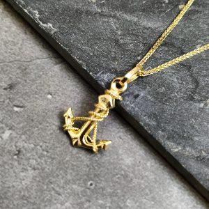 שרשרת זהב לגבר - עוגן - ארז תכשיטים