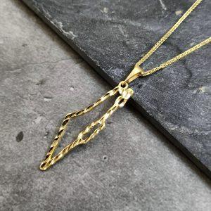 שרשרת זהב לגבר - מפת ארץ ישראל