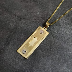 שרשרת זהב לגבר - מגן דוד טאג