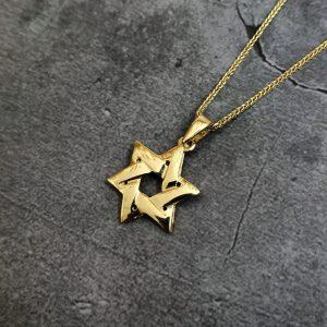 שרשרת זהב לגבר - מגן דוד