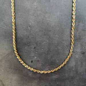 שרשרת זהב לגבר - חבל