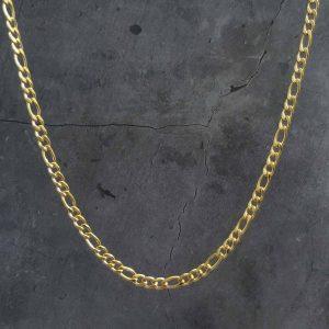 שרשרת גורמט לגבר – פיגרו זהב דק
