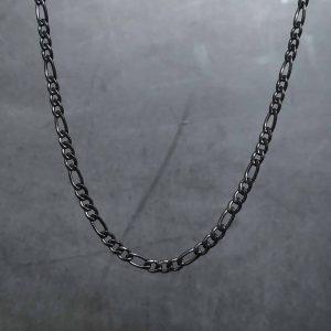 שרשרת גורמט לגבר – פיגרו שחור דק