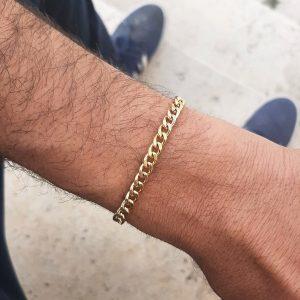צמיד גורמט לגבר - מיני כבל - זהב