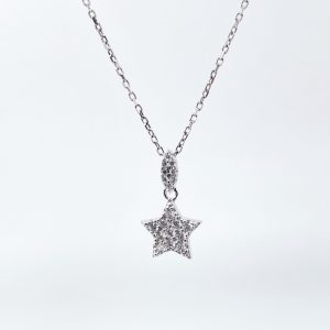 שרשרת כסף - Tiny star