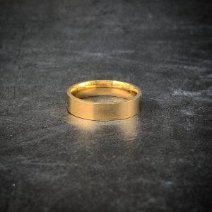 טבעת לגבר- קלין - זהב