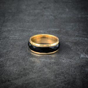 טבעת לגבר- סטיל - זהב שחור