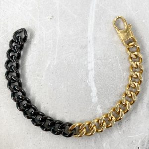 צמיד גורמט לגבר- לוק זהב