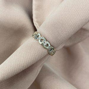 טבעת כסף - אינפיניטי משובצת
