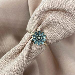 טבעת כסף - פרח