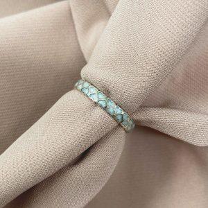 טבעת כסף - לבבות