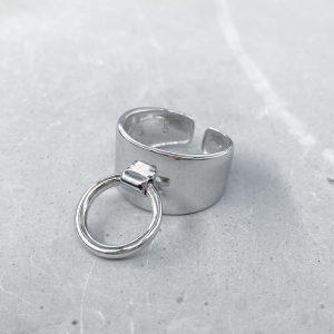 טבעת כסף - צירל