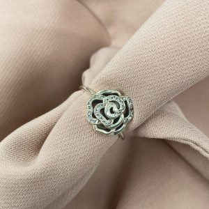 טבעת כסף - שושנה