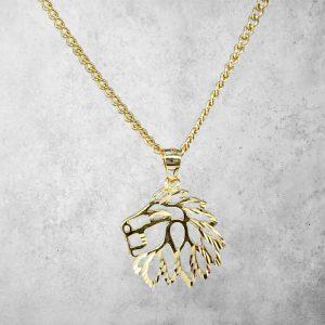 שרשרת לגבר - אריה - זהב