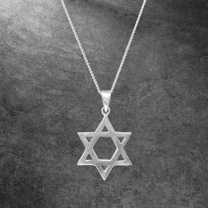 שרשרת כסף 925 - מגן דוד - חלק